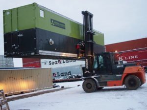 Delivering our first hydroponic farm to a client in Anchorage, AK.