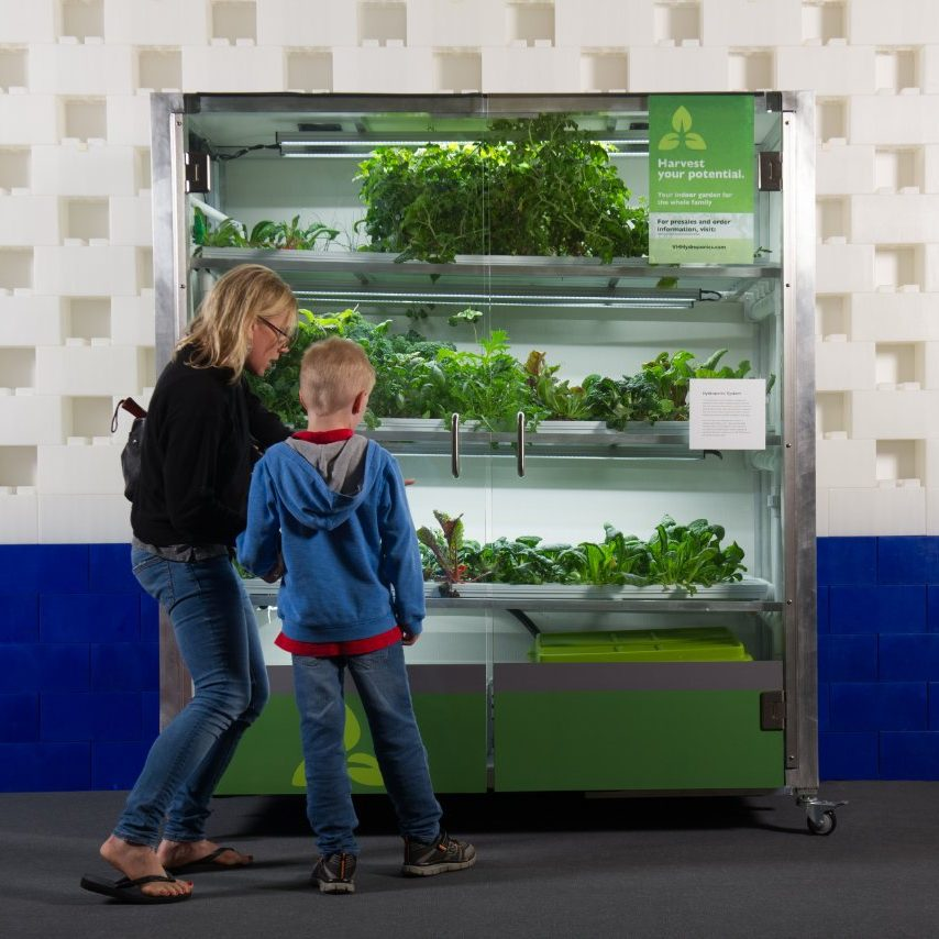 Vertical Hydroponics display at Anchorage Museum.